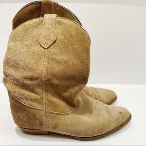 Frye Billy suede short pointed toe bootie